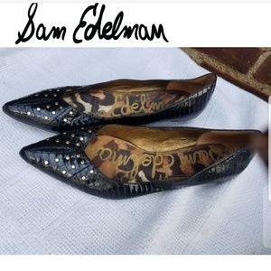 Sam Edelman reptile embellished flats 10